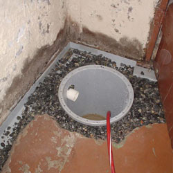Installing a sump in a sump pump liner in a Charleston home