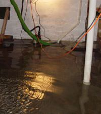 Several feet of floodwaters in a Orangeburg basement