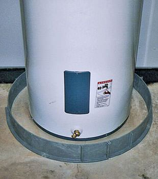 An old water heater in Okatie, GA and SC with flood protection installed